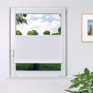 Fensterdecor Klemmfix Sichtschutz Plissee